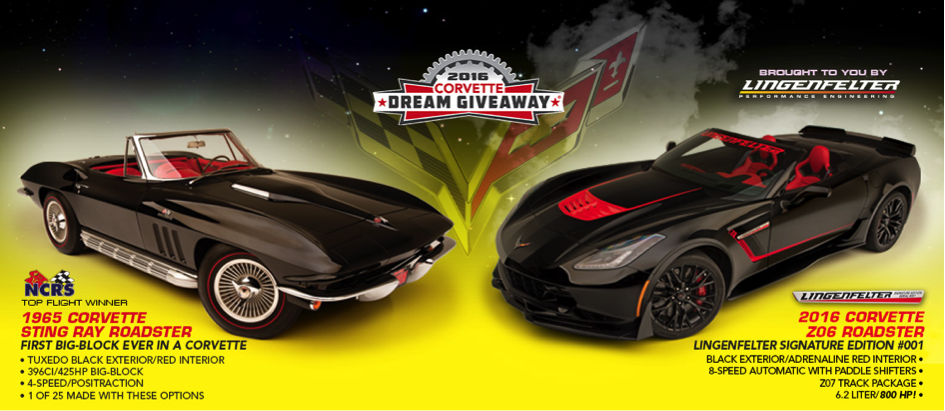 Dream Giveaway 2016 - Lingenfelter Signature Edition C7 Corvette Z06 Convertible