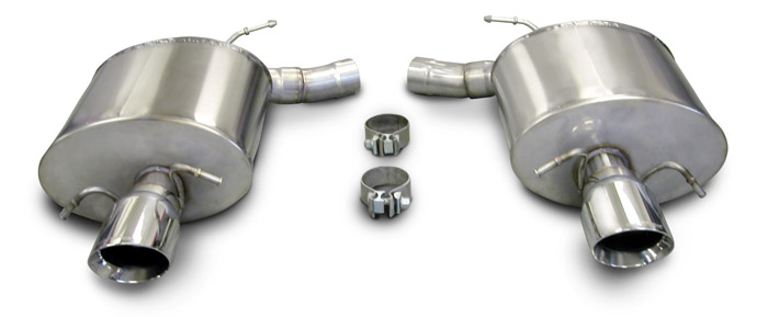 Corsa Cadillac CTS-V Sedan Stainless Axle Back Sport Exhaust 2009-2013: Lingenfelter Performance ...