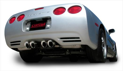Corsa C5 ZO6 Corvette Stainless Exhaust Xtreme Twin 4.0 Pro-Series Tip 97-04: Lingenfelter ...